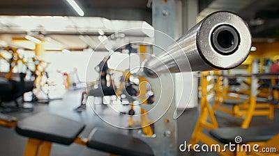 Barbell w sprawności fizycznej Gym - bodybuilding opracowywał zbiory