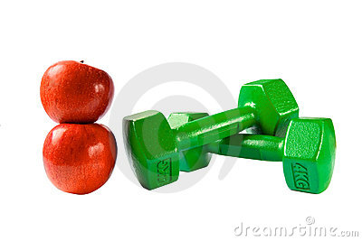 Barbells and apples