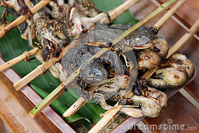 Barbeque frog