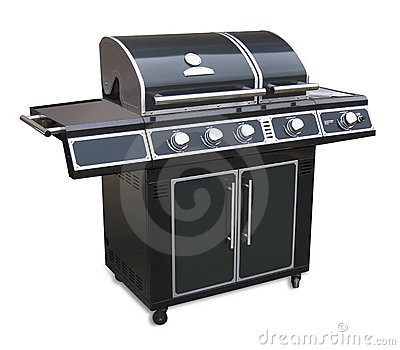 Barbeque grill, isolated