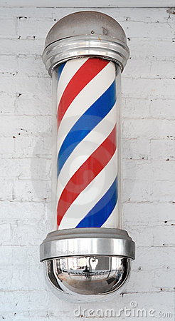 Free Barber Pole Royalty Free Stock Image - 4300556