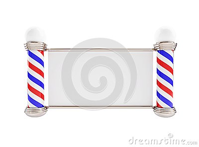Barber Pole  on a white background