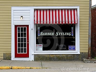 Small business: Barber shop front