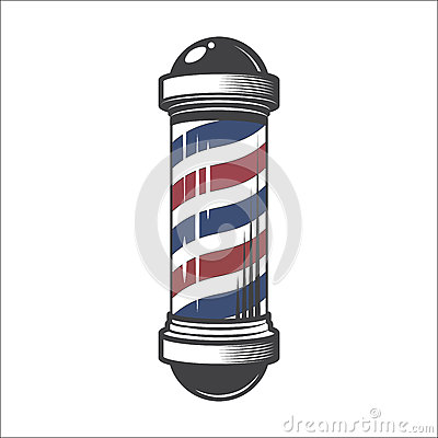 Free Barber Shop Pole Royalty Free Stock Images - 87751189