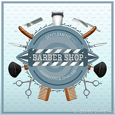 Free Barber Shop Realistic Concept Royalty Free Stock Images - 59916149