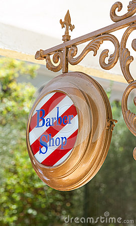 Free Barber Shop Sign Royalty Free Stock Image - 32810996