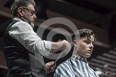 THE BARBER SHOW, COSMOBELLEZA 2014 Editorial Image