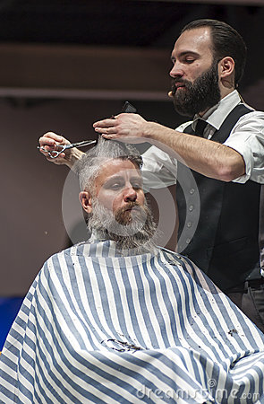 THE BARBER SHOW, COSMOBELLEZA 2014 Editorial Stock Image