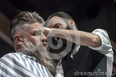 THE BARBER SHOW, COSMOBELLEZA 2014 Editorial Stock Photo