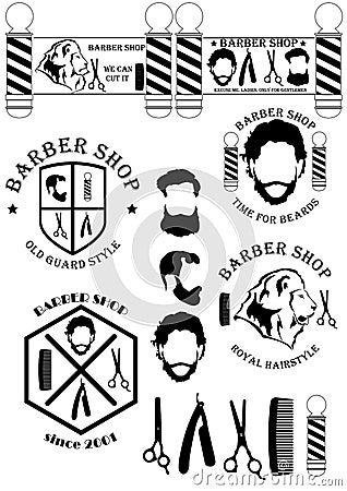 Free BarberShopSignsAndTools Stock Photography - 60027982