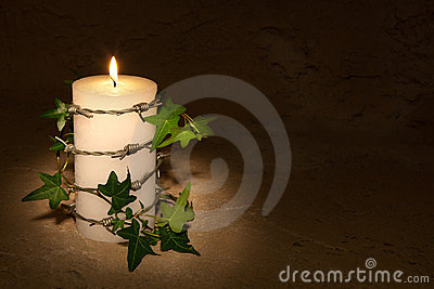 Barbwire and candle