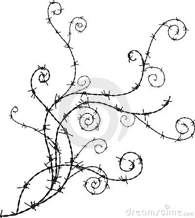 Barbwire ornament