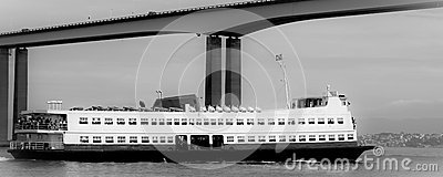 Barca Rio-Niteroi ferry boat on Baia de Guanabara