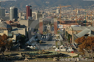 Barcelona Editorial Stock Photo