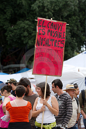 Barcelona 19J Protests Editorial Photography
