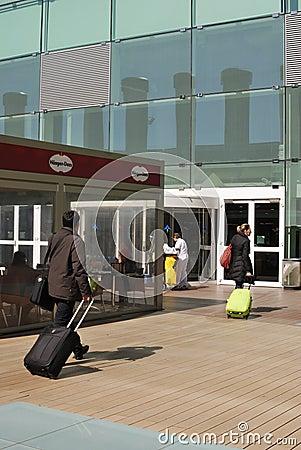 Barcelona Airport terminal building. Spain
