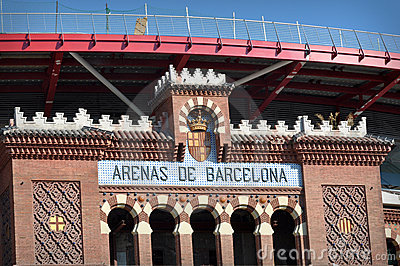 Barcelona Arena Sign in Spain
