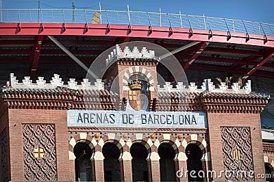 Barcelona Arena Sign in Spain