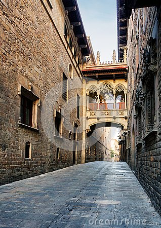 Free Barcelona - Barri Gothic Street, Nobody Royalty Free Stock Photography - 102854167