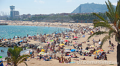 Barcelona beach Editorial Stock Photo