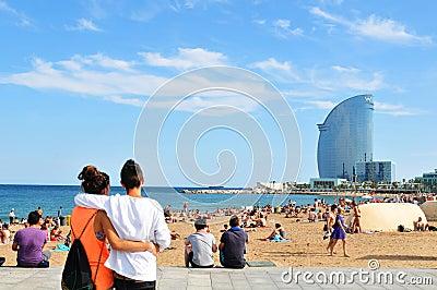 Barcelona beach Editorial Image