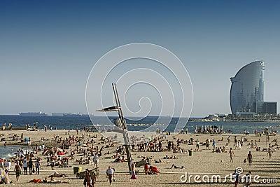 Barcelona beaches Editorial Stock Photo
