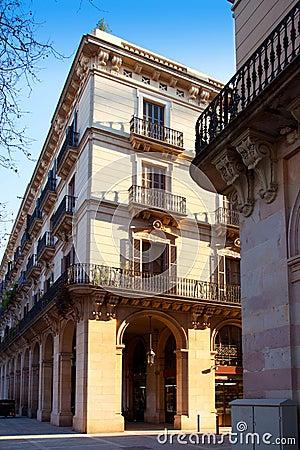 Barcelona Borne barrio arcade in street
