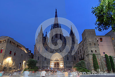 Barcelona Cathedral, Spain Editorial Image
