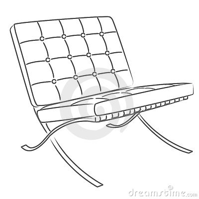 Barcelona Chair Vector Stock Images Image 14849894