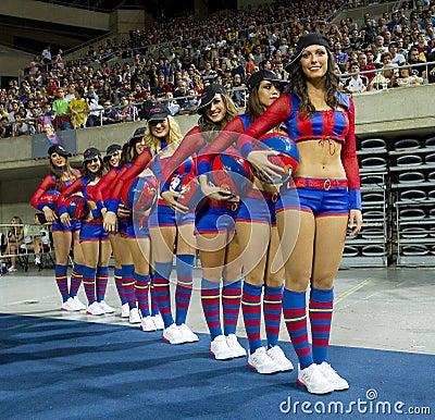 Barcelona cheerleaders Editorial Photography