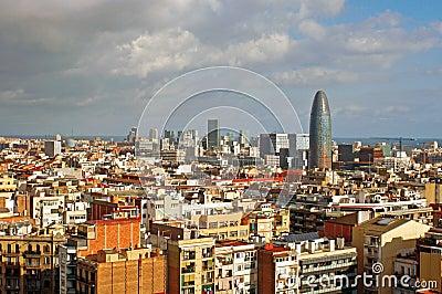 Barcelona cityscape Editorial Image