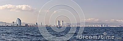 Barcelona coastline
