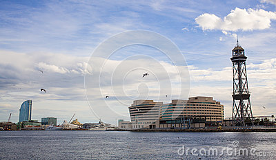 Barcelona Cruise Port Terminal funicular tower
