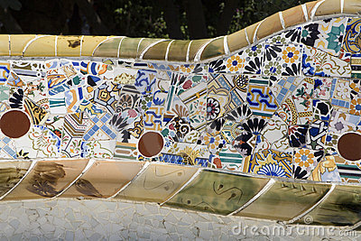 Barcelona - detail from Guell park from Gaudi