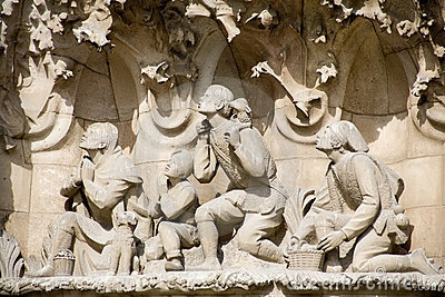 Barcelona - detail from Sagrada la Familia