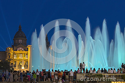 Barcelona - Fountains  - Spain Editorial Image