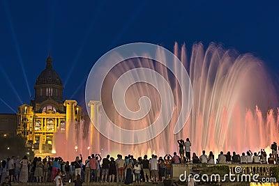 Barcelona - Fountains  - Spain Editorial Photography