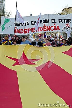 Barcelona - General strike Editorial Image