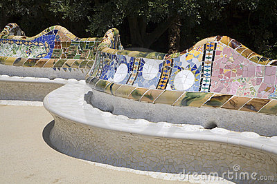 Barcelona - Guell park from Gaudi