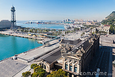 Barcelona Harbour Catalunia Spain Editorial Stock Image