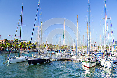 Barcelona marina Editorial Stock Photo