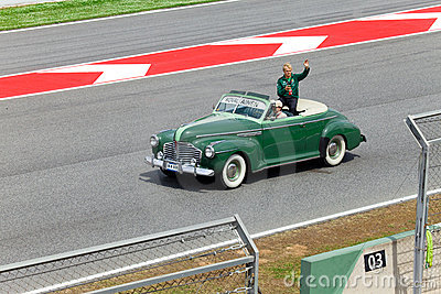BARCELONA- MAY 9: Heikki Kovalainen of Lotus-Coswo Editorial Image