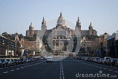 Barcelona museum Editorial Stock Image