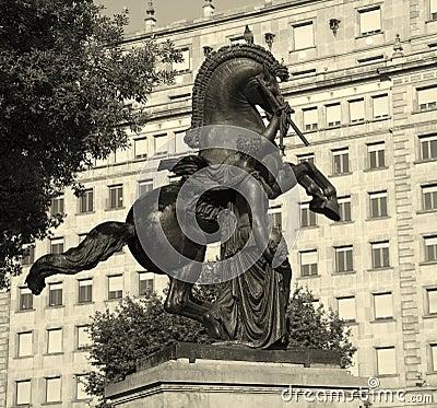 Barcelona - mythology statue