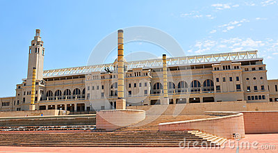 Barcelona Olympic Stadium Editorial Stock Image