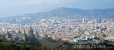 Barcelona Panorama Royalty Free Stock Photo - Image: 7770665