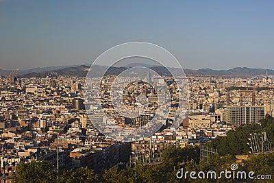 Barcelona from Parc de Montjuic.