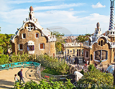 Barcelona,  Parc Guell Editorial Stock Image