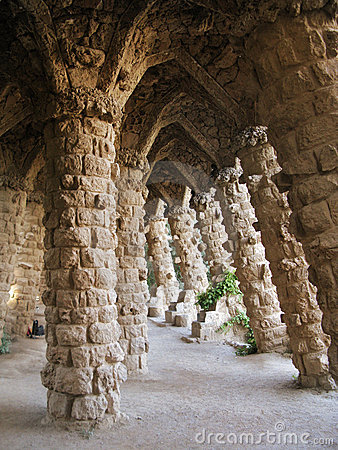 Barcelona: Park Guell, beautiful park by Gaudi