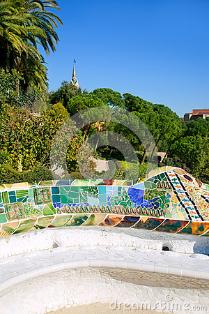 Barcelona Park Guell of Gaudi modernism